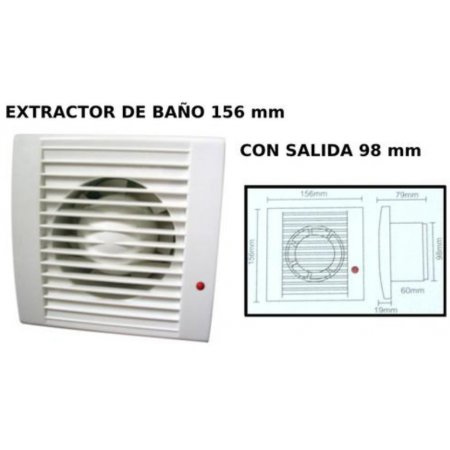 Extractor silencioso para aseo y baño diámetro de salida ...