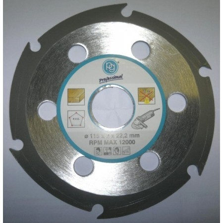 Disco corte de madera para radial 115 mm for Cortar madera con radial
