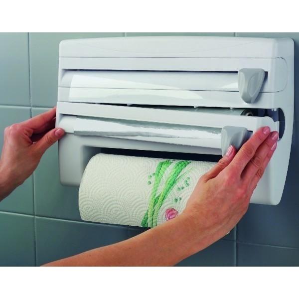 Portarrollos de cocina para papel aluminio y film for Portarrollos cocina carrefour